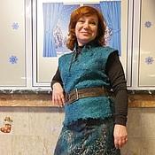 Одежда ручной работы. Ярмарка Мастеров - ручная работа Жилет  Кудрявая волна. Handmade.