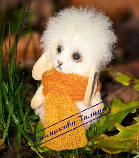 Мишки Тедди ручной работы. Ярмарка Мастеров - ручная работа. Купить овечка Бяша. Handmade. Белый, овечка, маленькая