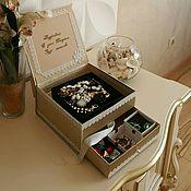 Подарки к праздникам ручной работы. Ярмарка Мастеров - ручная работа Шкатулка-фоторамка для хранения бижутерии, косметики,фото,др. мелочей.. Handmade.