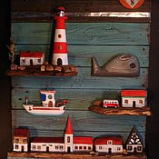 Картины и панно ручной работы. Ярмарка Мастеров - ручная работа морская бухта. Handmade.