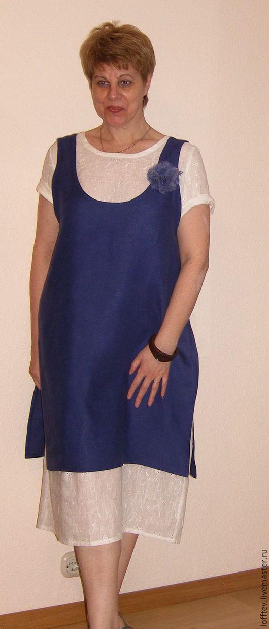 Платья ручной работы. Ярмарка Мастеров - ручная работа. Купить Комплект Бохо платье льняное и сарафан. Handmade. Белый