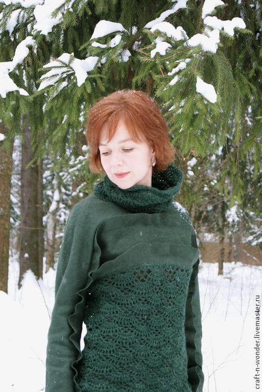"""Кофты и свитера ручной работы. Ярмарка Мастеров - ручная работа. Купить Времена года. Январь. """"Stopping by Woods on a Snowy Evening"""". Handmade."""