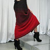 """""""Красное и черное""""  юбка теплая"""