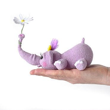 Dolls & toys handmade. Livemaster - original item Baby elephant soft toy gift, plush toy safari animals. Handmade.