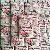Свадебный салон handmade. Livemaster - original item Wedding chocolate. Bonbonniere.. Handmade.