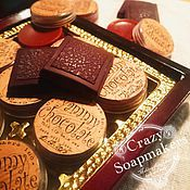 """Косметика ручной работы. Ярмарка Мастеров - ручная работа Бальзам для губ шоколадный """"Yammy Chocolate"""". Handmade."""