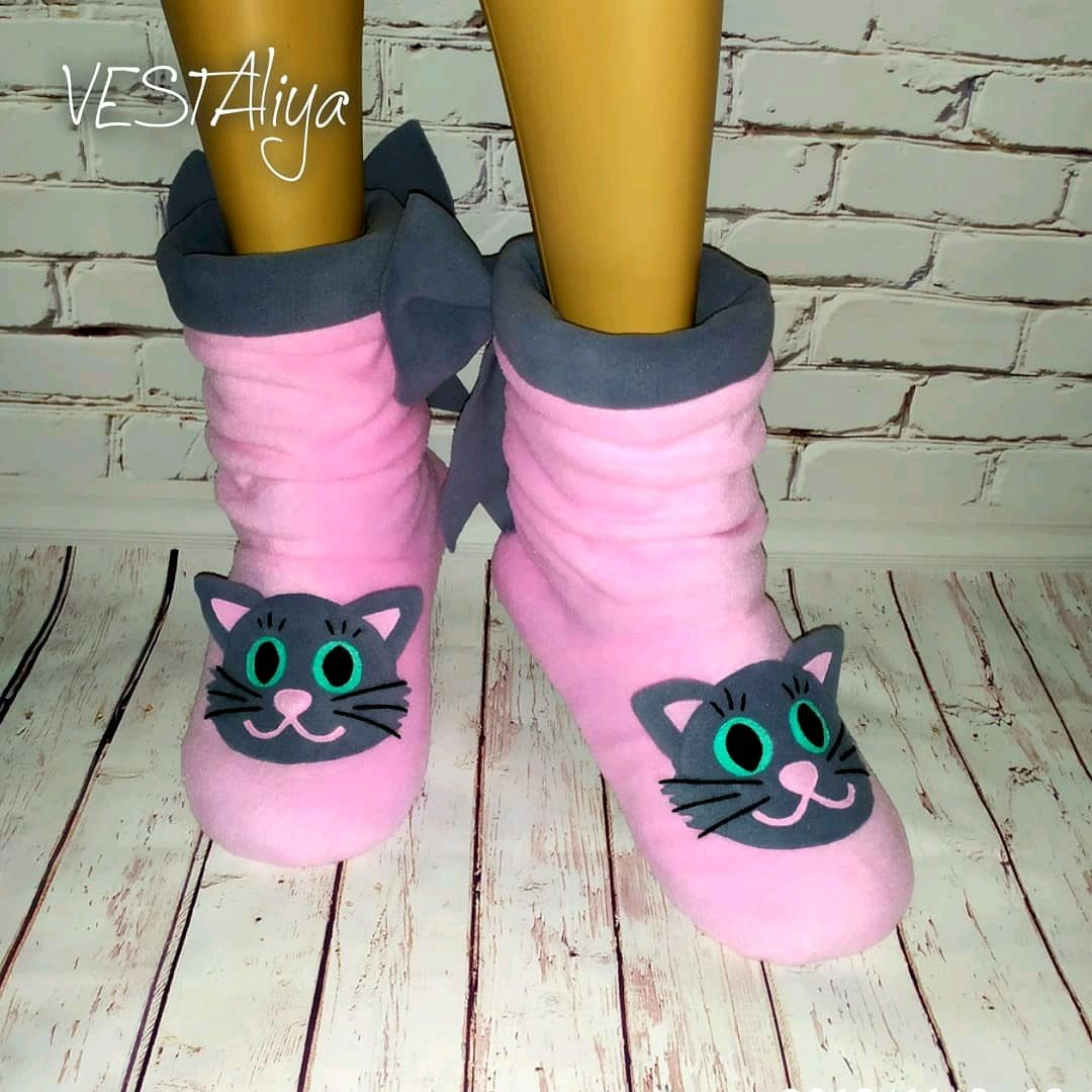 Slippers-boots Kittens, Slippers, Biisk,  Фото №1