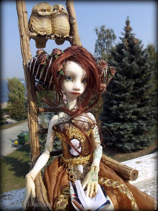 Коллекционные куклы ручной работы. Ярмарка Мастеров - ручная работа. Купить Шарнирная кукла Дриада. Handmade. Белый, куклы и игрушки