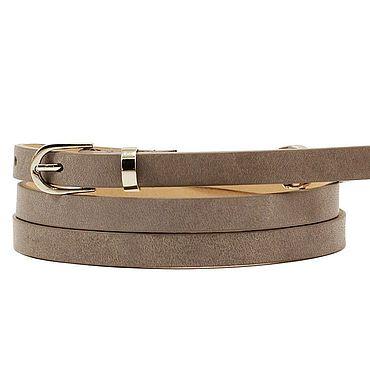Accessories handmade. Livemaster - original item Copy of Copy of Leather white belt. Handmade.
