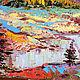 """Пейзаж ручной работы. Картина горы """"На Высоте Над Озерами"""" пейзаж с горами маслом. ЯРКИЕ КАРТИНЫ Наталии Ширяевой. Ярмарка Мастеров."""