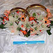 Свадебный салон ручной работы. Ярмарка Мастеров - ручная работа Кольца на свадебную машину. Handmade.