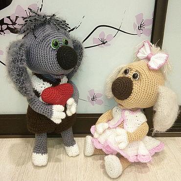 """Куклы и игрушки ручной работы. Ярмарка Мастеров - ручная работа Вязаные игрушки: """"Шарик и Принцесса"""". Handmade."""