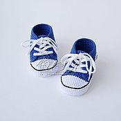 """Работы для детей, ручной работы. Ярмарка Мастеров - ручная работа Пинетки кеды """"Star"""" синие. Handmade."""