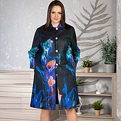Одежда handmade. Livemaster - original item Author`s Raincoat with neoprene lining. Handmade.