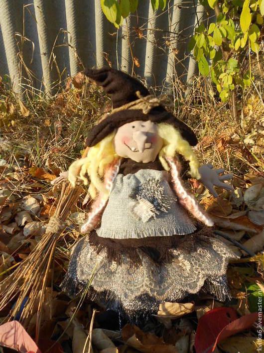 Коллекционные куклы ручной работы. Ярмарка Мастеров - ручная работа. Купить Вредная ведьмочка. Handmade. Коричневый, ведьмочка, коллекционная кукла