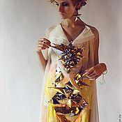 Одежда ручной работы. Ярмарка Мастеров - ручная работа Платье макси с шлейфом. Handmade.