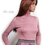 Одежда ручной работы. Ярмарка Мастеров - ручная работа Водолазка /темно-розовый меланж. Handmade.