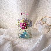 """Для дома и интерьера ручной работы. Ярмарка Мастеров - ручная работа Игольница - """"Цветочная"""". Handmade."""