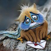 """Куклы и игрушки ручной работы. Ярмарка Мастеров - ручная работа Сова """"Я по тебе скучаю (( """". Handmade."""