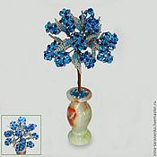 Цветы и флористика handmade. Livemaster - original item Tree good luck from Topaz in a vase of onyx. Handmade.
