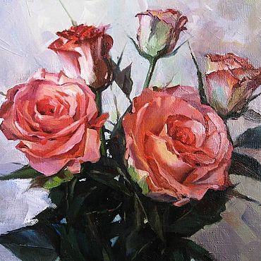 Картины и панно ручной работы. Ярмарка Мастеров - ручная работа Картины: Розы. Handmade.