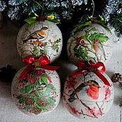 """Подарки к праздникам ручной работы. Ярмарка Мастеров - ручная работа Шар-шкатулка """"Пташки"""". Handmade."""