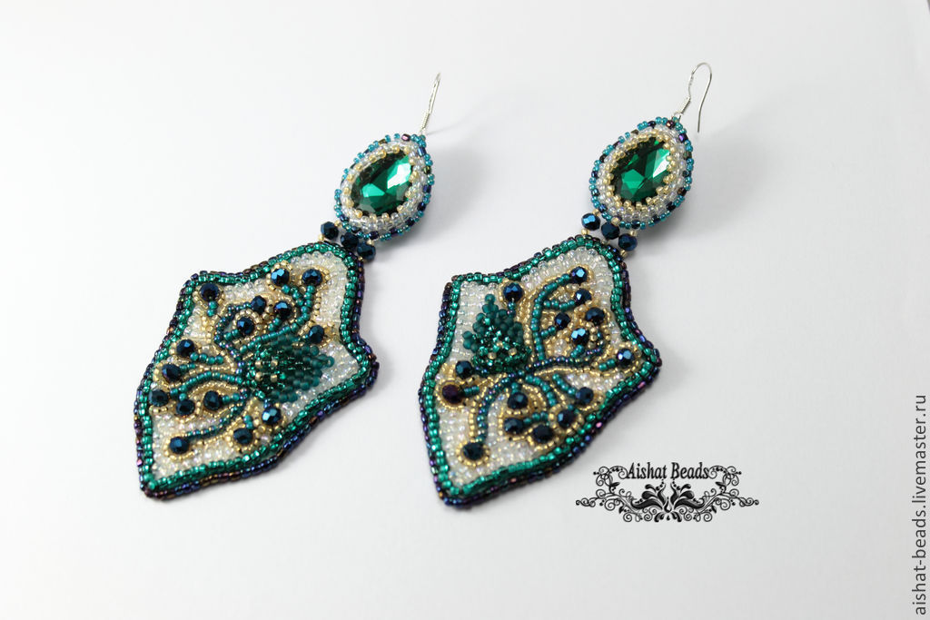 Images about bead embroidery rings earrings on