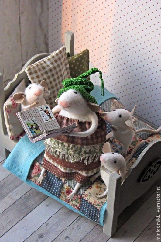 Кукольный дом ручной работы. Ярмарка Мастеров - ручная работа. Купить Сказка для мышат. Handmade. Белый, мышата, шерсть 100%