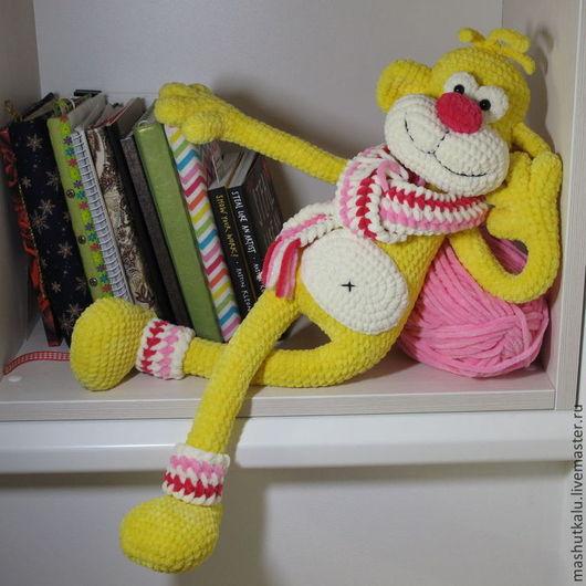 Игрушки животные, ручной работы. Ярмарка Мастеров - ручная работа. Купить Обезьянка Кадли - вязаная мягкая игрушка для сна - 2015 год обезьяны. Handmade.