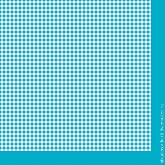 Мелкая клетка на голубом (SLOG022106) - салфетка для декупажа, , Москва, Фото №1