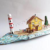 Для дома и интерьера handmade. Livemaster - original item Interior arrangement of the House of the lighthouse Keeper houses driftwood. Handmade.