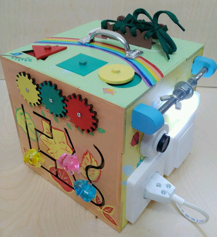 """Развивающие игрушки ручной работы. Ярмарка Мастеров - ручная работа. Купить Бизиборд-бизикуб музыкальный """"4 сезона"""". Handmade. развивайка"""