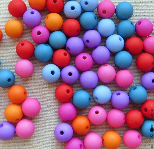 Бусины 10 мм, пластиковые круглые