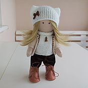 Куклы и игрушки ручной работы. Ярмарка Мастеров - ручная работа Кукла Катюшка. Текстильная интерьерная кукла блондинка ручной работы. Handmade.