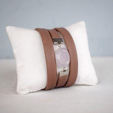 Decorations handmade. Livemaster - original item Bracelet for every day for winter elegant delicate leather. Handmade.