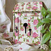 Для дома и интерьера ручной работы. Ярмарка Мастеров - ручная работа Ключница Ароматные розочки. Handmade.