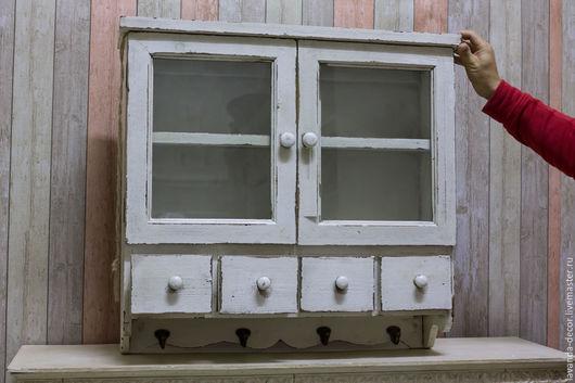 Мебель ручной работы. Ярмарка Мастеров - ручная работа. Купить Шкафчик подвесной - Прованс - для прихожей или кухни. Handmade. Белый