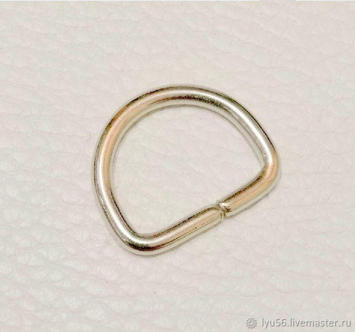 Полукольцо 20х15 мм (3 мм) никель – купить на Ярмарке Мастеров – LWABIRU | Фурнитура для сумок, Москва