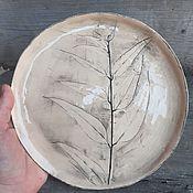 Посуда handmade. Livemaster - original item A Plate Of Eucalyptus. Handmade.