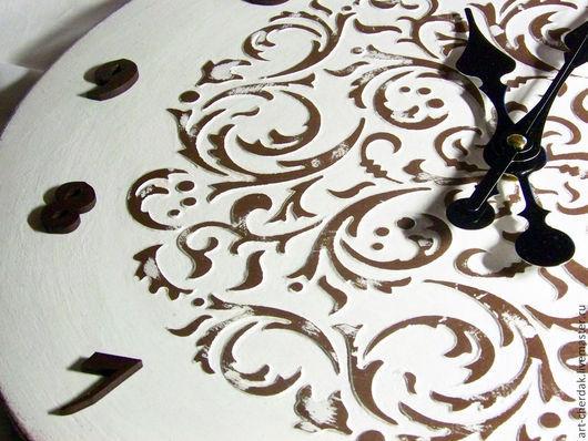 """Часы для дома ручной работы. Ярмарка Мастеров - ручная работа. Купить Часы настенные """"Ветви на снегу"""". Handmade. Белый"""
