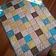 Пледы и одеяла ручной работы. Ярмарка Мастеров - ручная работа. Купить Детское лоскутное одеяло. Handmade. Бирюзовый, лоскутное шитье