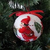 """Подарки к праздникам ручной работы. Ярмарка Мастеров - ручная работа Ёлочный шар """"Рождественские гномы"""". Handmade."""