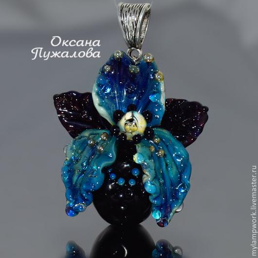 Кулон Черная орхидея Чеси , аромокулон подарок на новый год