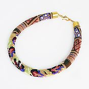 Necklace handmade. Livemaster - original item Harness beaded Fuchsia in pace. Handmade.