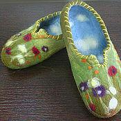 """Обувь ручной работы. Ярмарка Мастеров - ручная работа тапочки """"Ножки в облачках"""" :). Handmade."""