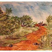 """Картины и панно ручной работы. Ярмарка Мастеров - ручная работа Постер акварели """"Дождливое лето"""". Handmade."""