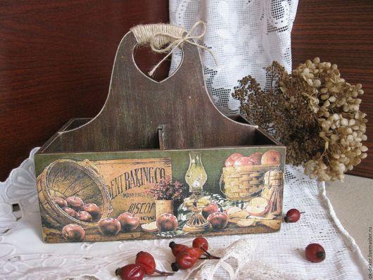 Корзины, коробы ручной работы. Ярмарка Мастеров - ручная работа. Купить Короб для специй  Кухонные штучки - 3. Handmade.
