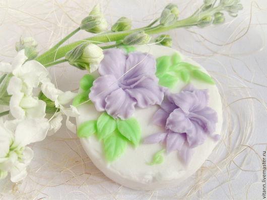 """Мыло ручной работы. Ярмарка Мастеров - ручная работа. Купить """"Гибискус"""" сувенирное мыло. Handmade. Мыло сувенирное, цветы"""