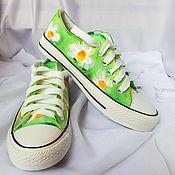 Обувь ручной работы handmade. Livemaster - original item Sneakers for women painting