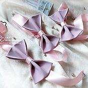 Галстуки ручной работы. Ярмарка Мастеров - ручная работа Галстук-бабочка на свадьбу пыльно-розовая. Handmade.
